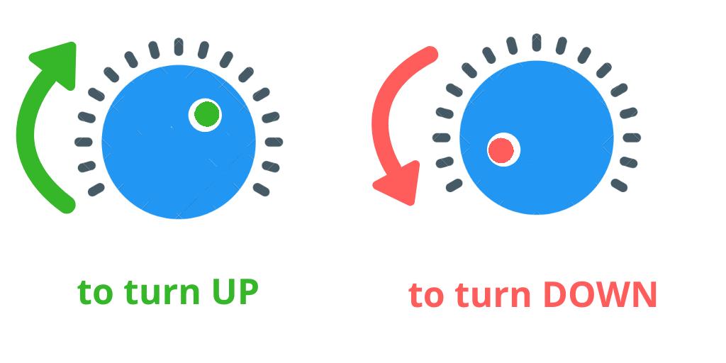 Пример для turn up\down